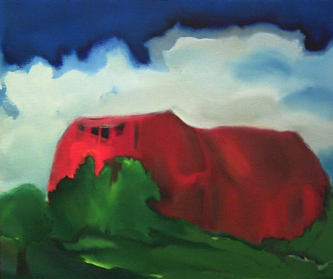 Red House with Cloud